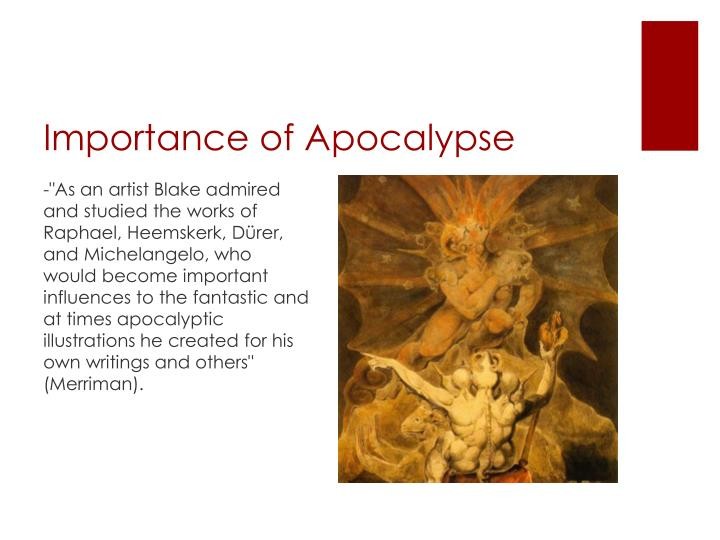 Importance of Apocalypse