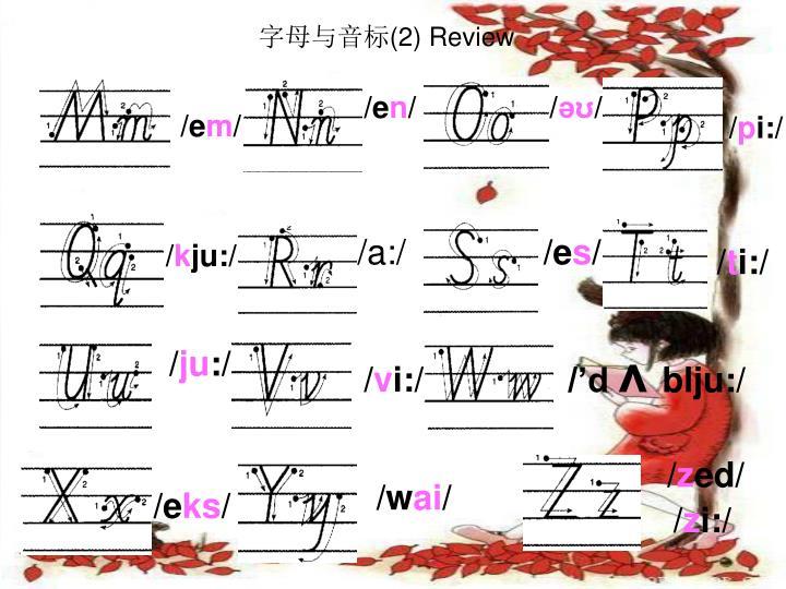 字母与音标