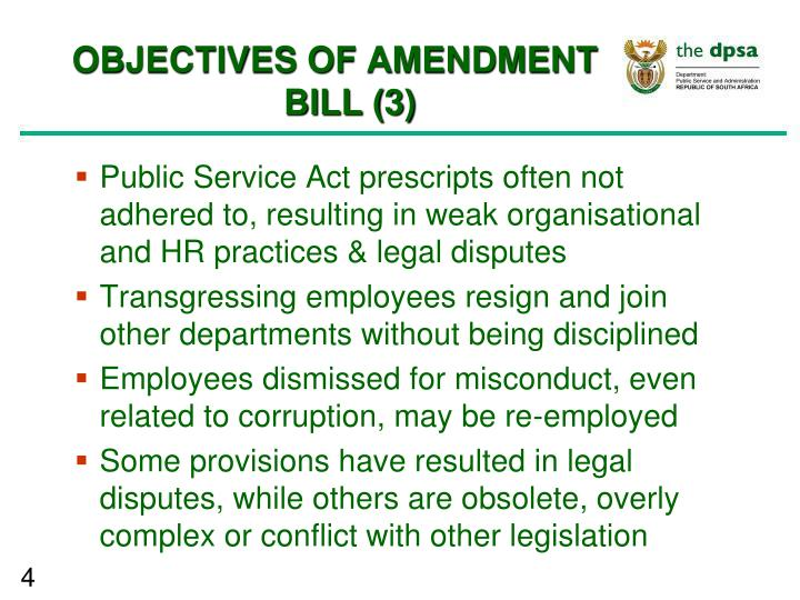 OBJECTIVES OF AMENDMENT BILL (3)