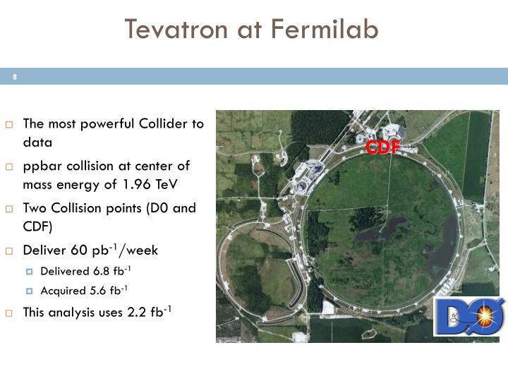 Tevatron at Fermilab