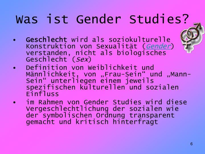 Was ist Gender Studies?