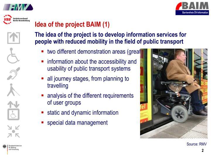Idea of the project BAIM (1)