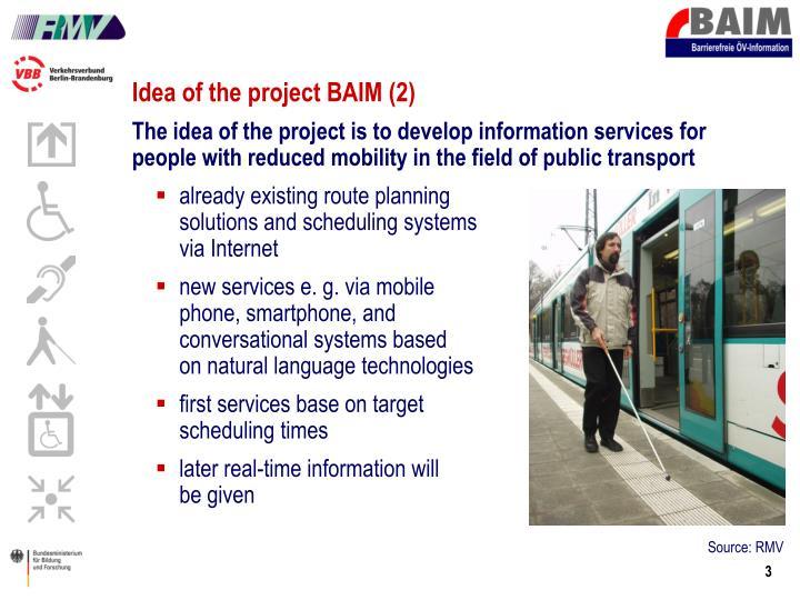 Idea of the project BAIM (2)