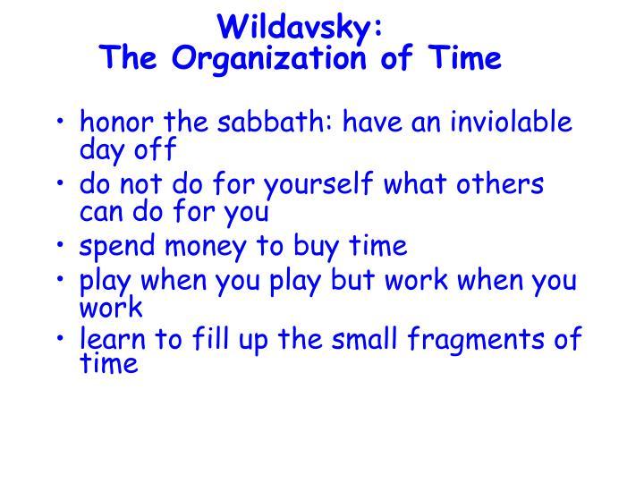 Wildavsky: