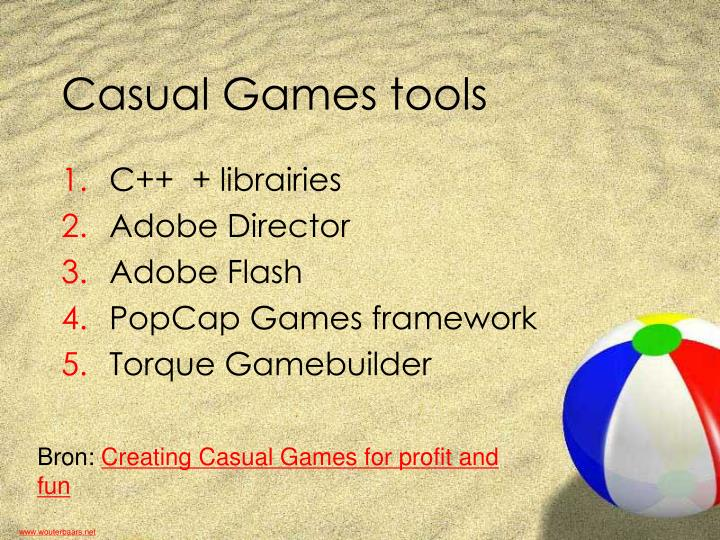 Casual Games tools