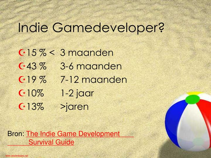 Indie Gamedeveloper?
