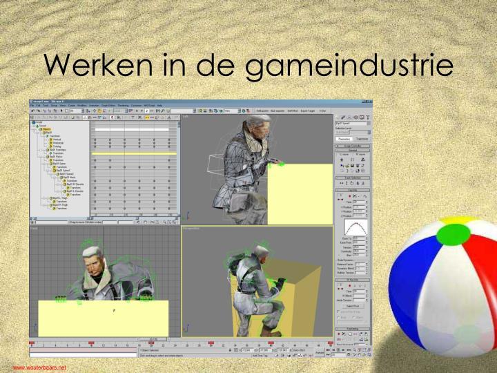 Werken in de gameindustrie
