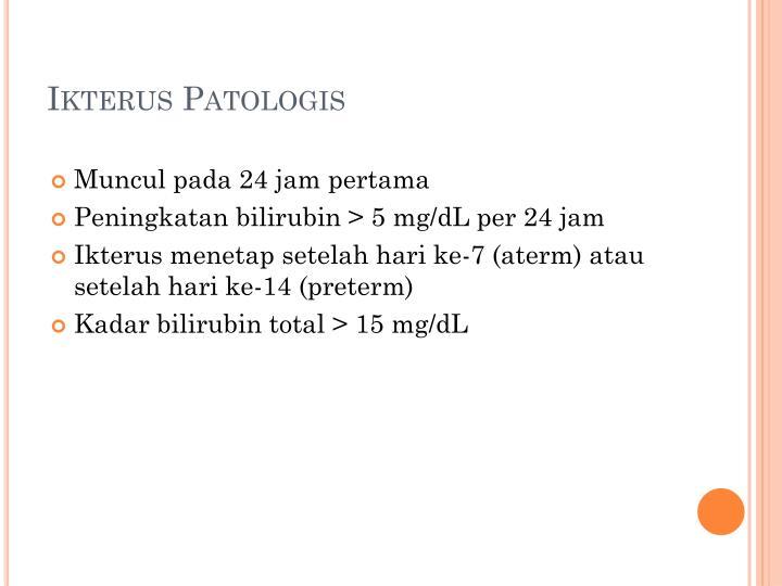 Ikterus Patologis