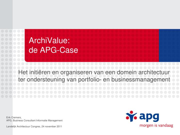 Archivalue de apg case
