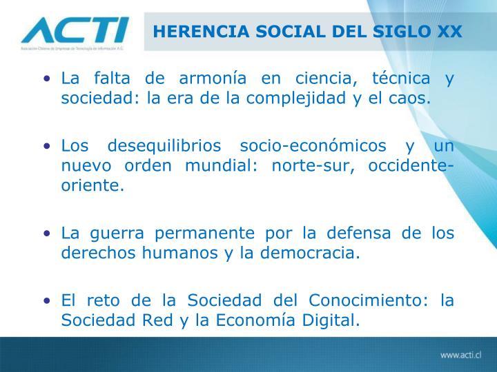 HERENCIA SOCIAL DEL SIGLO XX