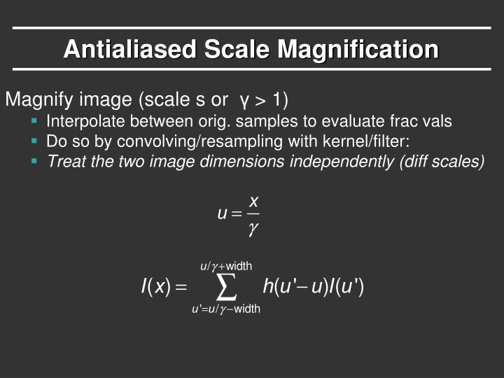 Antialiased Scale Magnification