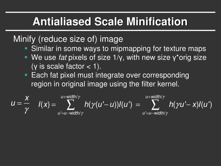 Antialiased Scale Minification