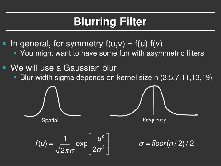 Blurring Filter