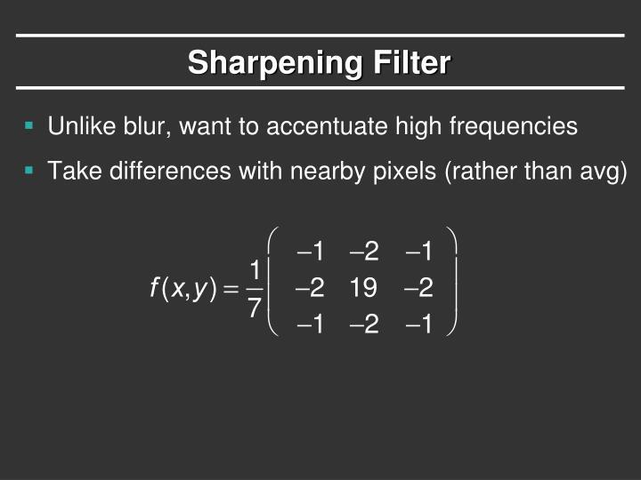 Sharpening Filter