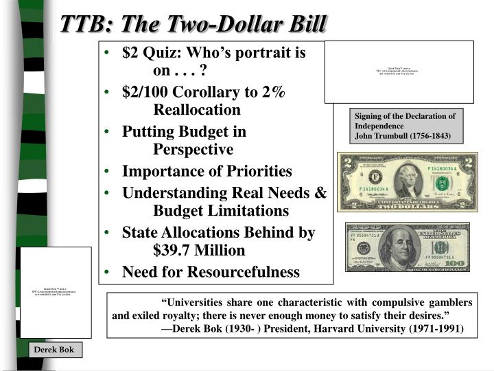 TTB: The Two-Dollar Bill