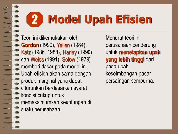 Model Upah Efisien