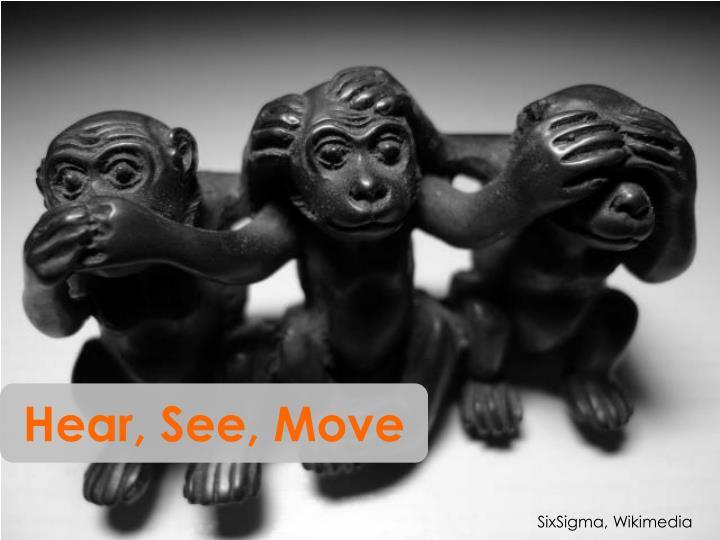 Hear, See, Move