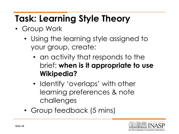 Task: Learning