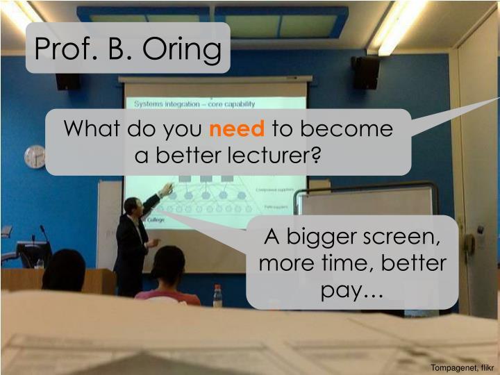 Prof. B. Oring