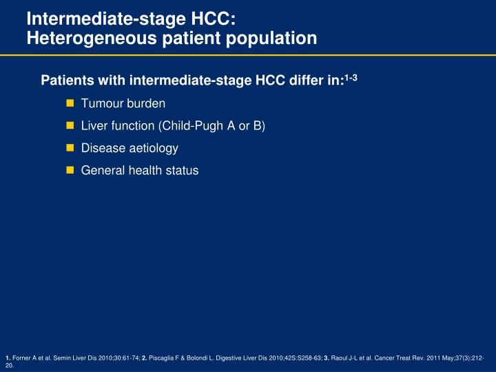 Intermediate-stage HCC: