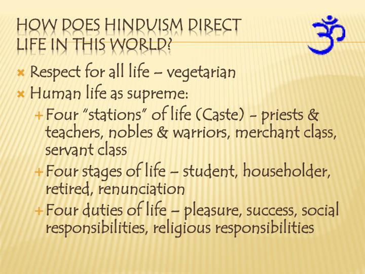 Respect for all life – vegetarian