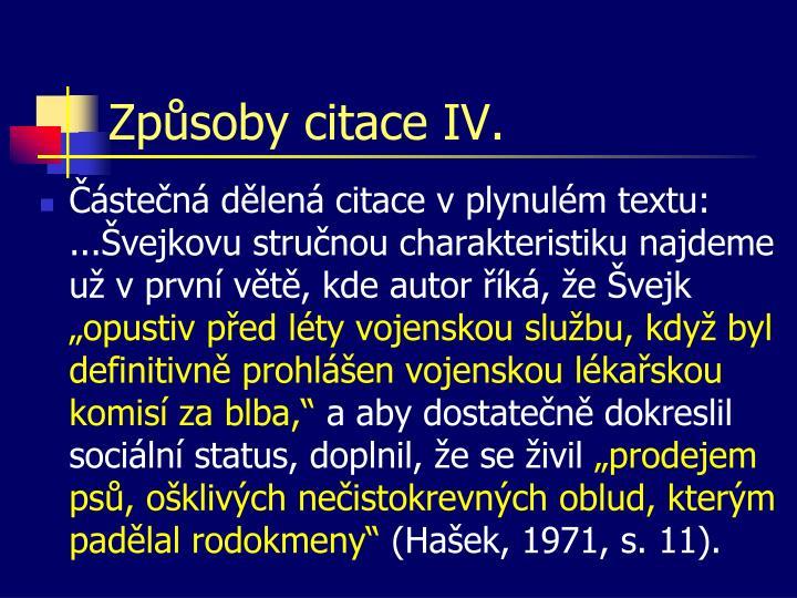 Způsoby citace IV.