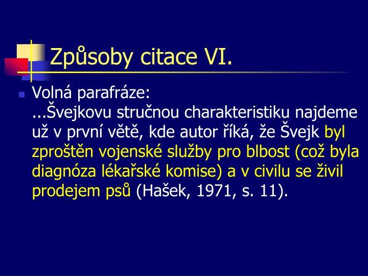 Způsoby citace VI.