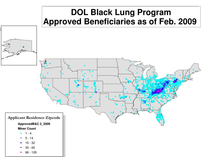 DOL Black Lung (BL) Approved Applicants
