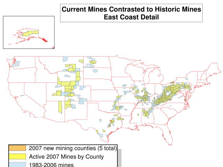 Location of Active Mines: