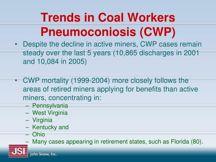 Trends in Coal Workers Pneumoconiosis (CWP)