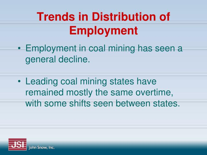 Trends in Distribution of Employment