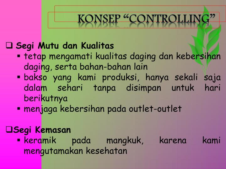 "KONSEP ""CONTROLLING"""