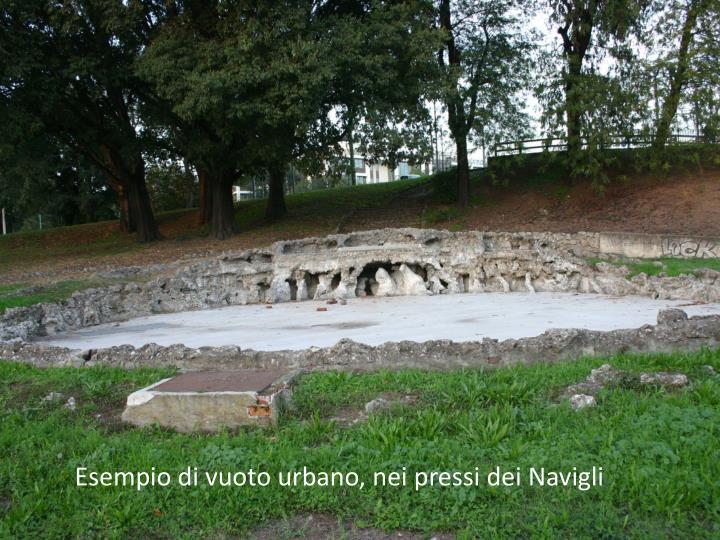 Esempio di vuoto urbano, nei pressi dei Navigli