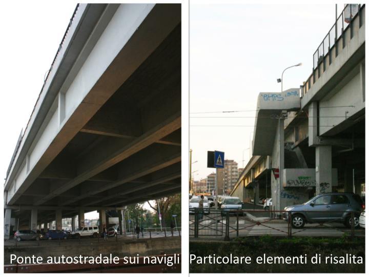 Ponte autostradale sui navigli