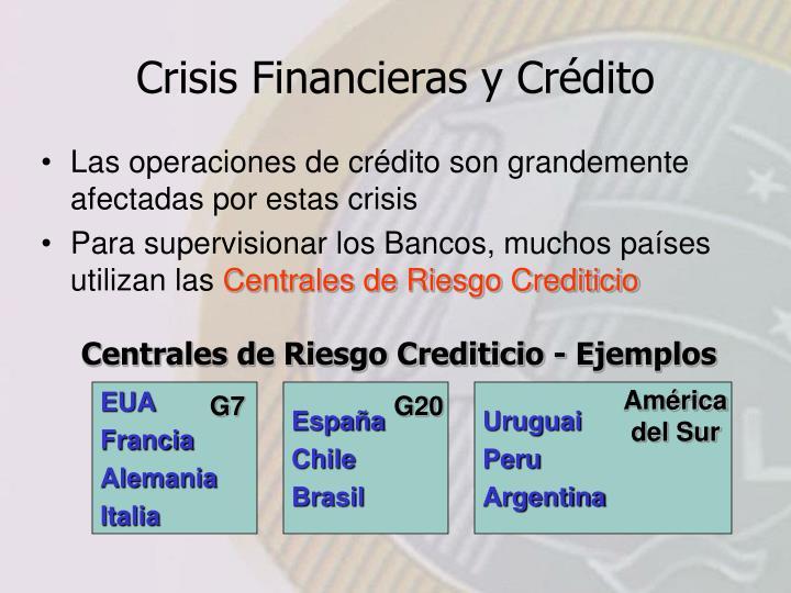 Centrales de Riesgo Crediticio - Ejemplos
