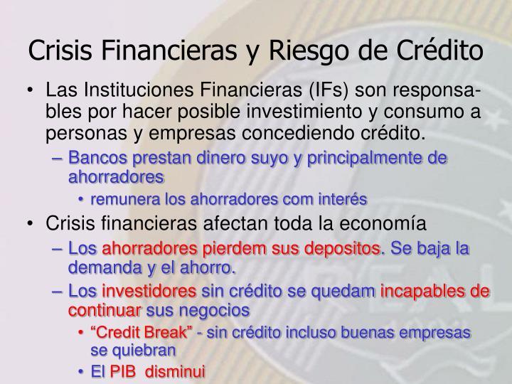Crisis Financieras y Riesgo de Crédito