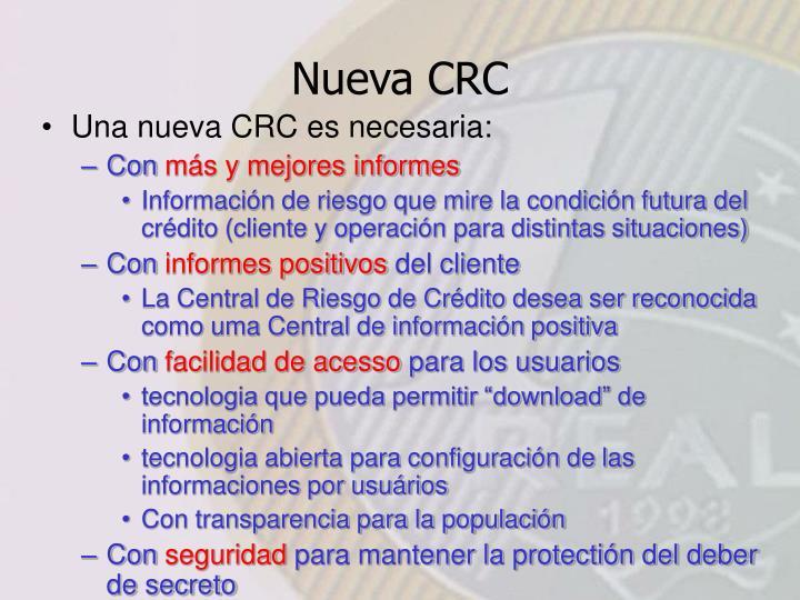 Nueva CRC