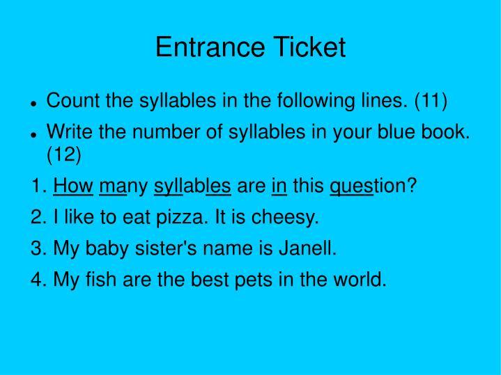 Entrance Ticket