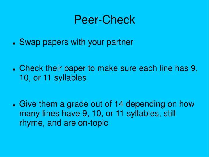 Peer-Check