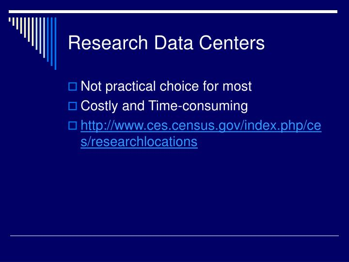 Research Data Centers