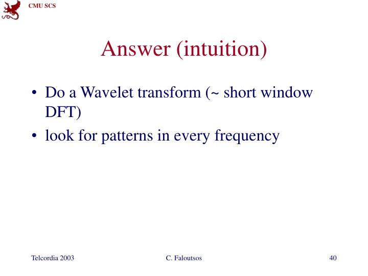 Answer (intuition)