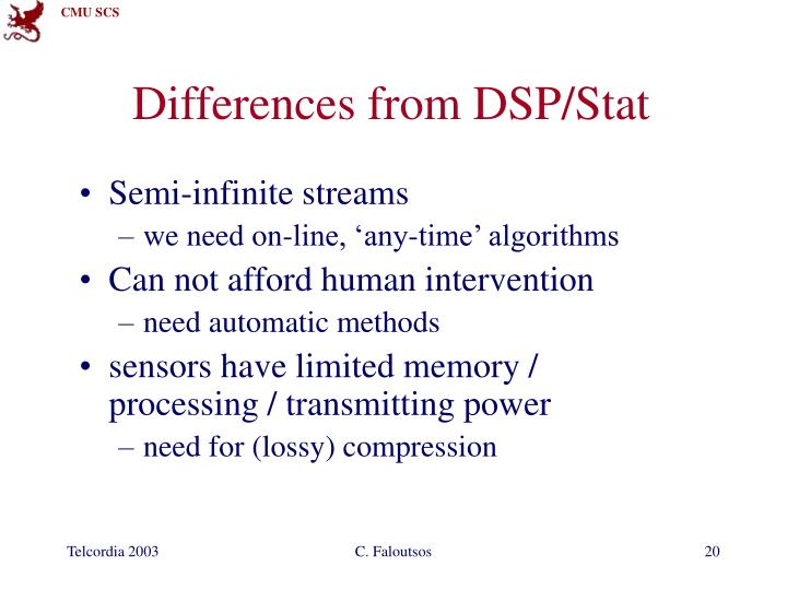Differences from DSP/Stat