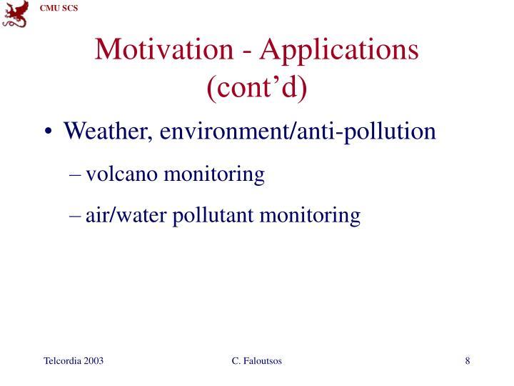 Motivation - Applications (cont'd)