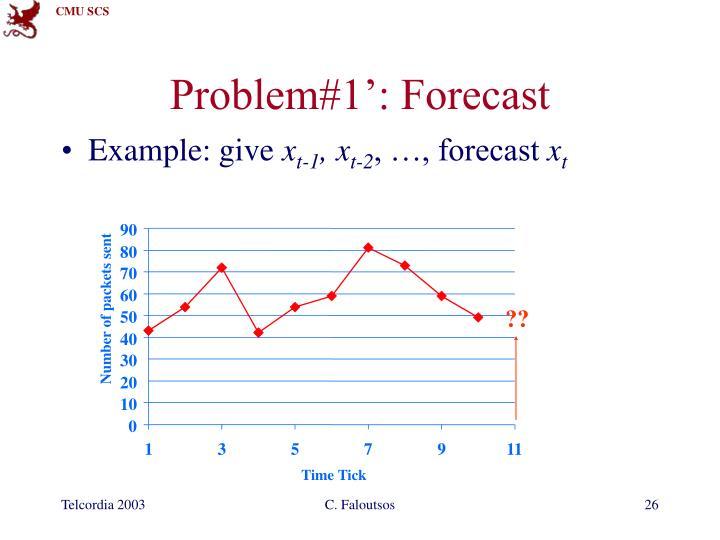 Problem#1': Forecast