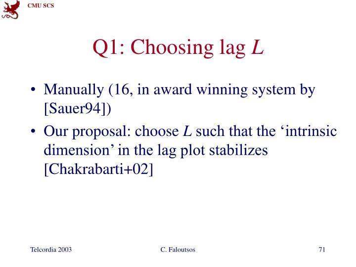Q1: Choosing lag