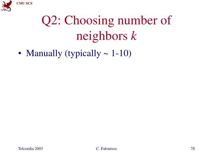 Q2: Choosing number of neighbors