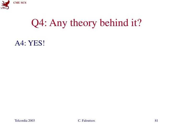 Q4: Any theory behind it?