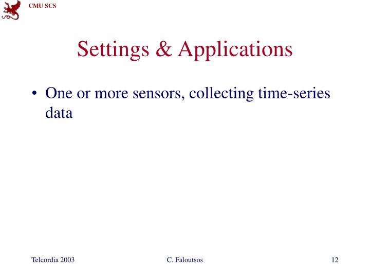 Settings & Applications