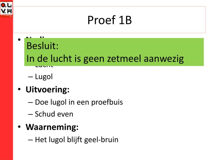 Proef 1B