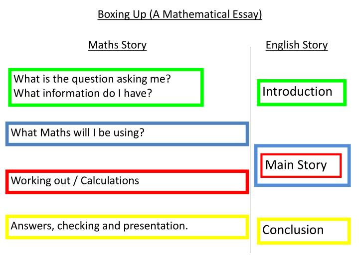 Boxing up a mathematical essay